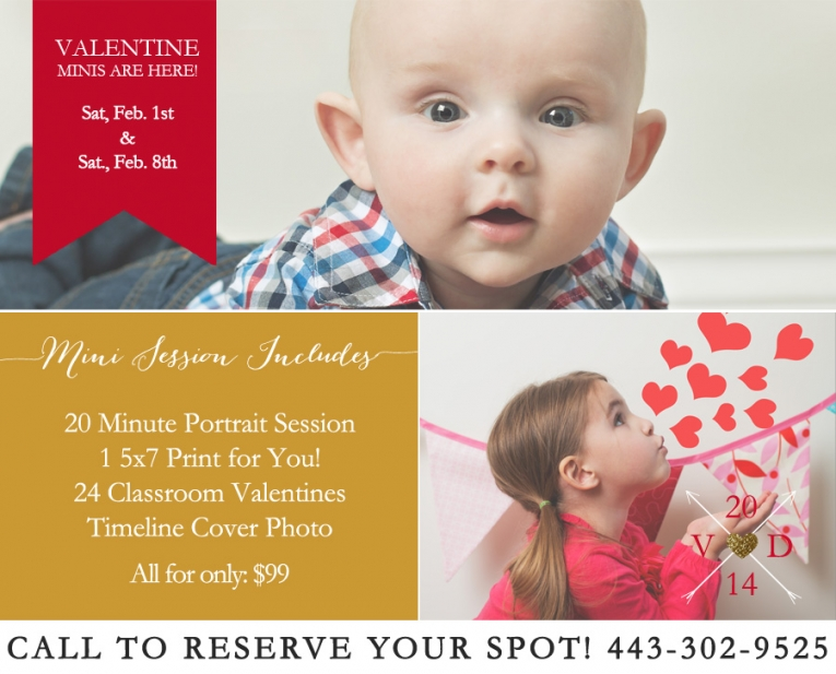 Valentine mini sessions are here deals mt airy maryland